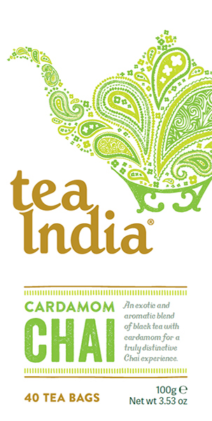 Tea India Cardamom Chai Tea Bags 40s