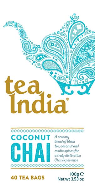 Tea India Coconut Chai Tea Bags 40s