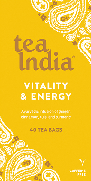 Vitality & Energy Ayurvedic Tea Bags 40s