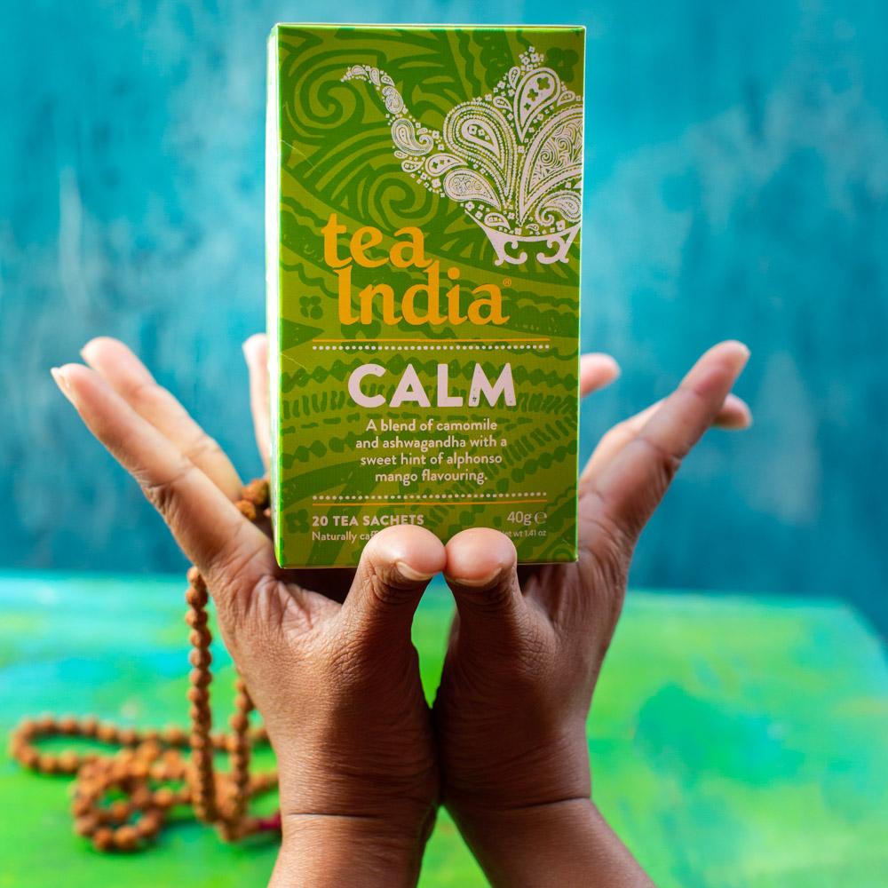 Tea India Calm Herbal Wellness Tea
